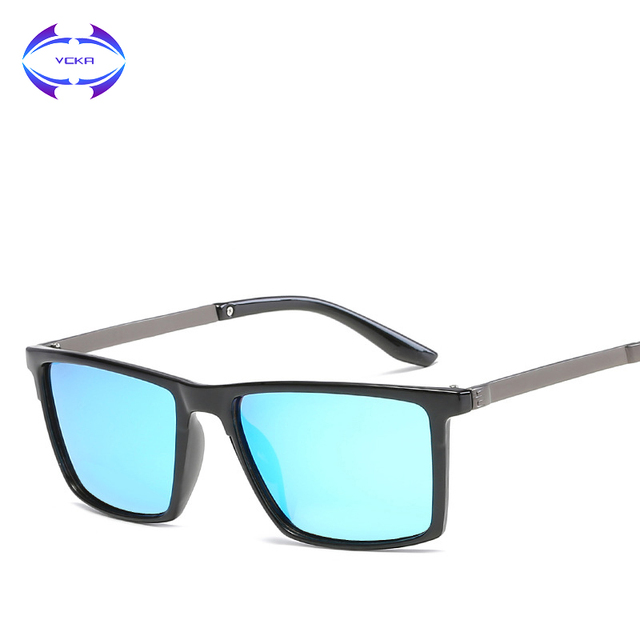 2a03343b30cd VCKA Brand Vintage Style Sunglasses Men UV400 Classic Male Square Glasses  Driving Eyewear Unisex Polarized Gafas