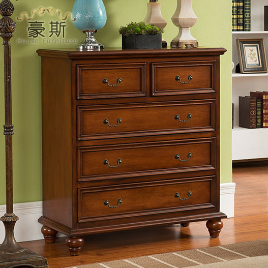 Qizhe Promotional Continental Chest Of Drawers Entrance Hall Locker Decoration Cabinet Wood Bedroom Drawer Lockers