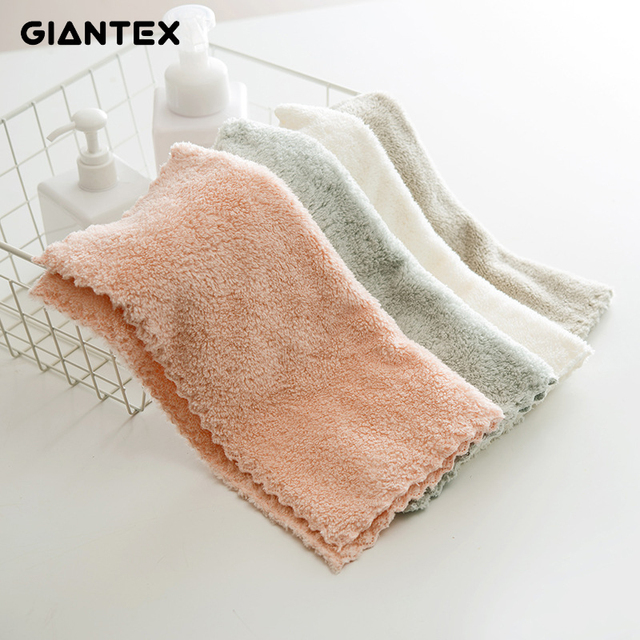 GIANTEX Small Soft Portable Microfiber Face Towel Bathroom Super Absorbent Thick Towels 30x30m U1870