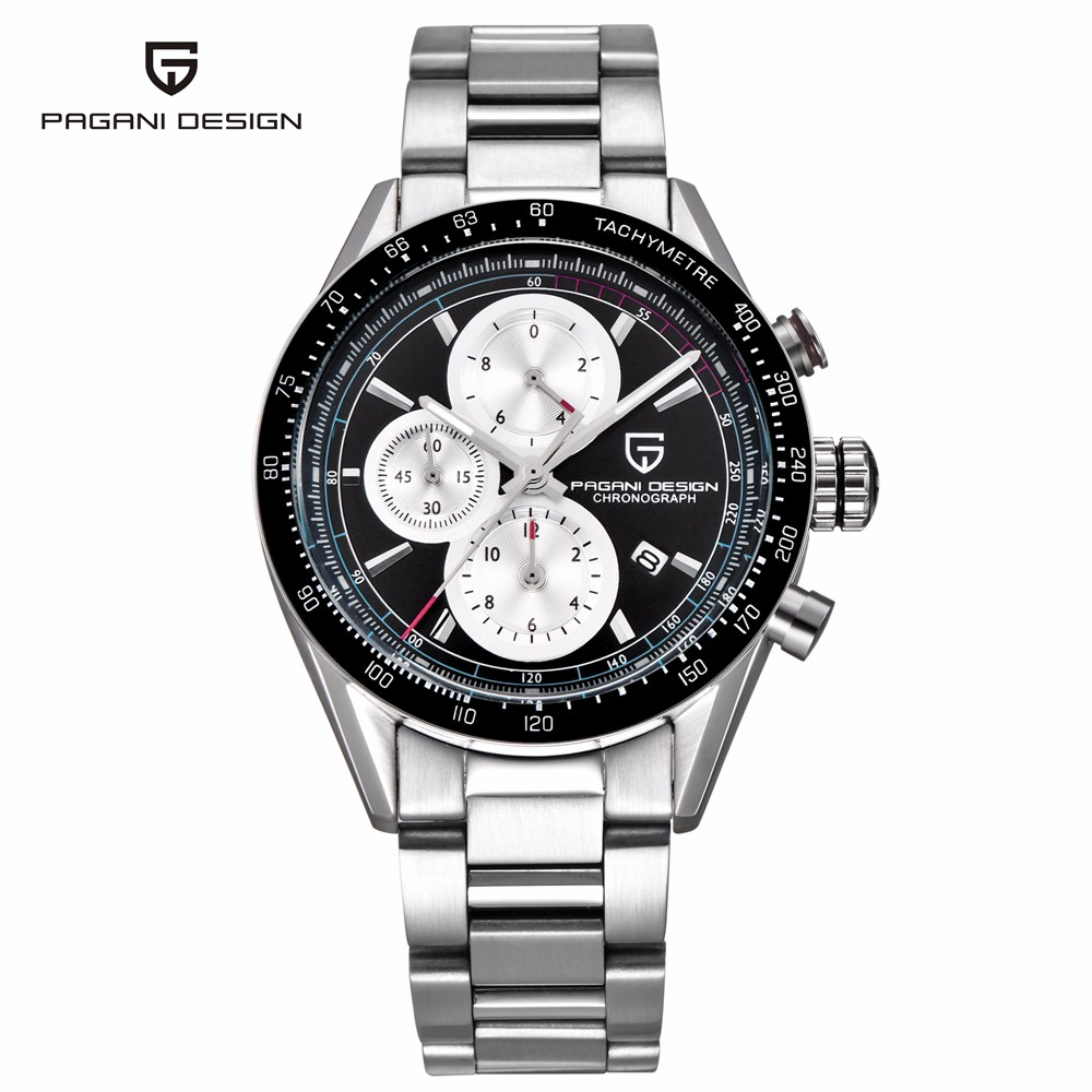 PAGANI DESIGN Mens Watches Fashion Sport Quartz Watch Men Dive Male Clock Chronograph Military Waterproof Wristwatch erkek saat pagani design mens watch fashion luxury brand clock male casual sport wristwatch men pirate skull style quartz watch reloj hombe