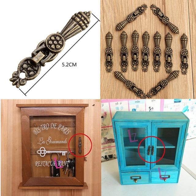 Nice 10pcs Antique Bronze Furniture Mini Handles Vintage Box Handle Home Decor  Hardware