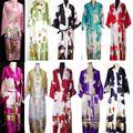2014 НОВЫХ Китайских женщин Silk Район Одеяние Кимоно Ванна Платье Ночная Рубашка Sml XL XXL XXXL Бесплатная Доставка ZS02