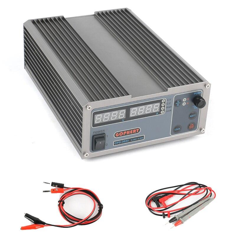 3232 mise à niveau CPS-3630 laboratoire alimentation numérique réglable DC alimentation MCU PFC Compact alimentation à découpage 36 V 30A