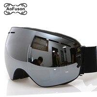 2016 New Brand Professional Ski Goggles 2 Double Lens Anti Fog UV400 Big Spherical Ski Glasses