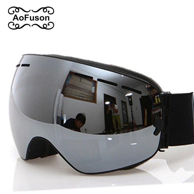 แว่นตาสกี,แว่นตา2020ใหม่ยี่ห้อProfessional Anti Fog Double Lens UV400ทรงกลมขนาดใหญ่ผู้ชายผู้หญิงแว่นตาสกีสโนว์บอร์ดGoggles