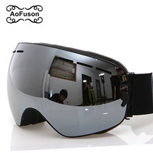 Kayak gözlüğü, 2020 yeni marka profesyonel anti sis çift Lens UV400 büyük küresel erkekler kadınlar kayak gözlüğü kayak Snowboard gözlüğü
