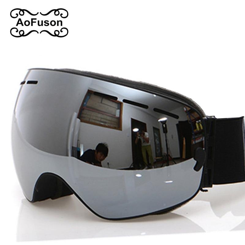 Ski Goggles, 2019 New Brand Professional Anti-fog Double Lens UV400 Big Spherical Men Women Ski Glasses Skiing Snowboard Goggles