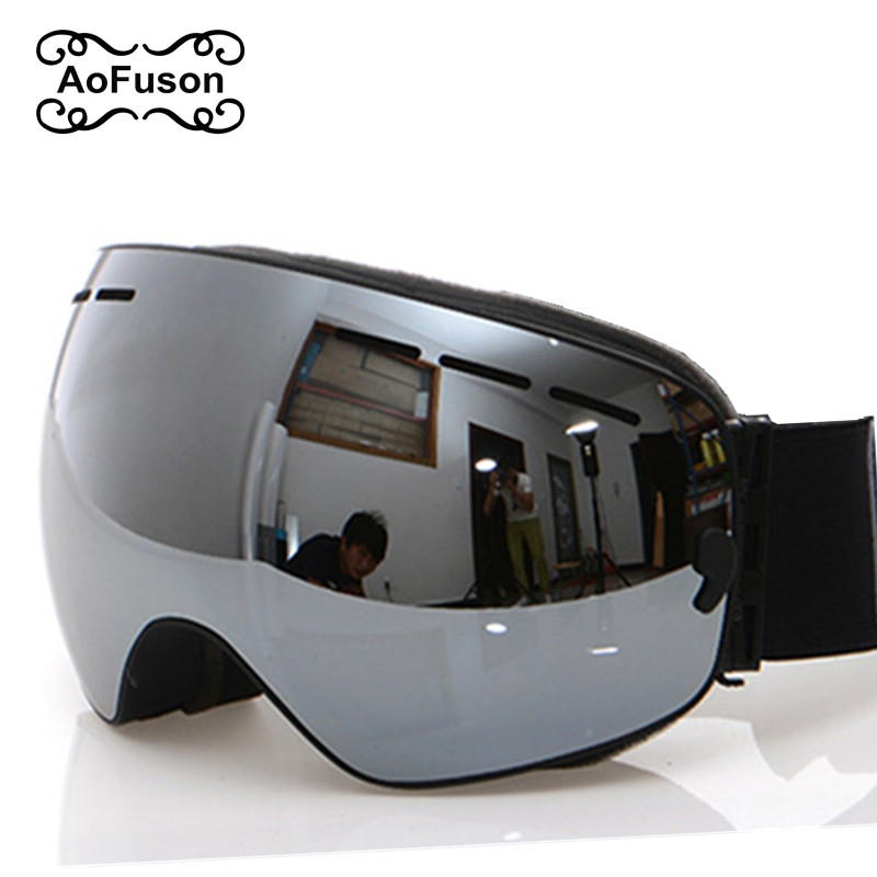 Ski Goggles, 2020 New Brand Professional Anti-fog Double Lens UV400 Big Spherical Men Women Ski Glasses Skiing Snowboard Goggles