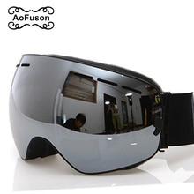 Ski Goggles, 2020 New Brand Professional Anti fog Double Lens UV400 Big Spherical Men Women Ski Glasses Skiing Snowboard Goggles