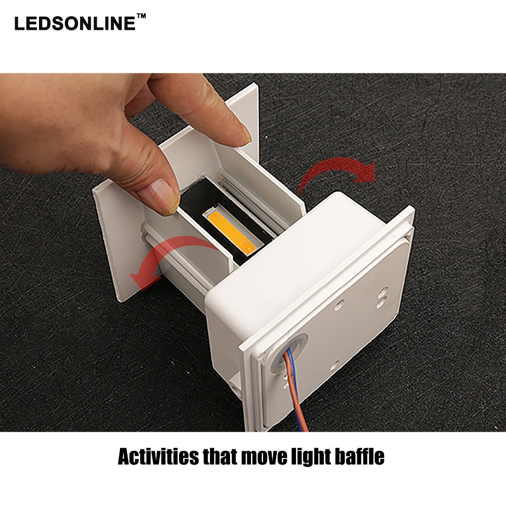 Ny 120-graders vattentät kub COB LED-lampa Vägglampa Moderna - Inomhusbelysning - Foto 5