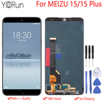 Original New For Meizu 15 Plus M881Q M891Q Super AMOLED LCD Screen Display+Touch Panel Digitizer With Frame For MEIZU 15