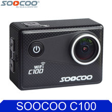 Soocoo c100 4 К wi-fi ночная съемка видео действий камеры гироскопа 30 м Водонепроницаемый Дайвинг Full HD Спорт Видеокамера DV Поддержка GPS модуль