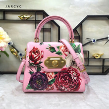 Luxury Italy Brand Ethnic Style Bag Crossbody Bags Genuine Cow Leather Women Famous Designer Flowers Printed Shoulder Bags Sacs