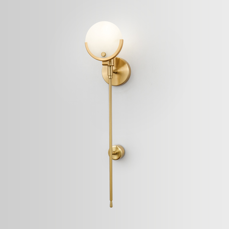 Modern Glass Ball Wall Lamp Sconce Led Bedroom Wall Light Fixture for Home Decor Nordic Foyer Living Room Corridor Luminaire E27 Wall Lamps     - title=