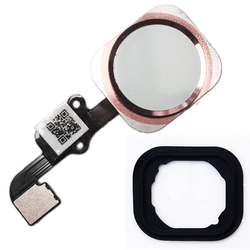HOUSTMUST Compatible Home Button Flex Ribbon Cable Assembly with Rubber Gasket Replacement Part For iPhone 6s 4.7 6s Plus 5.5
