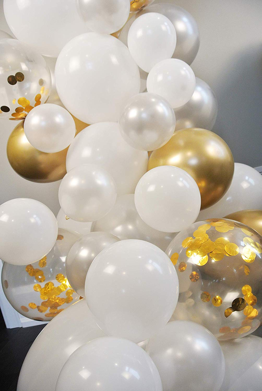 METABLE 100PCS Pearl White Chrome Gold Confetti Silver Glue Dots Decorating Strip Holiday Wedding Graduation Anniversary in Ballons Accessories from Home Garden