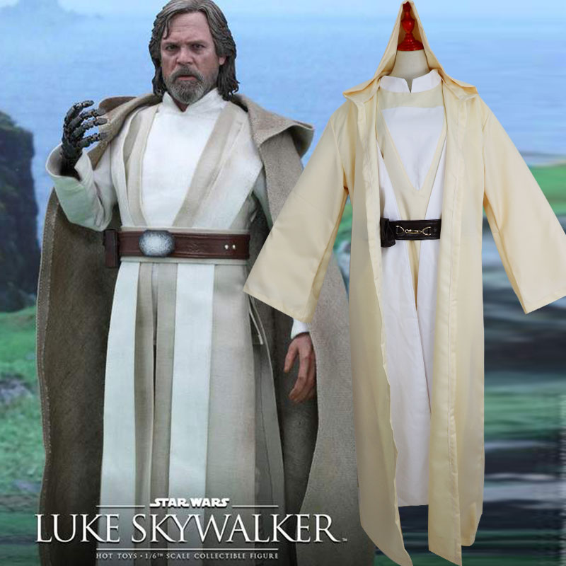 все цены на Movie Star Wars 8 Jedi Knight Costume Luke Skywalker Cosplay 2018 Halloween Parties party Adult men Costume Coat uniform suit