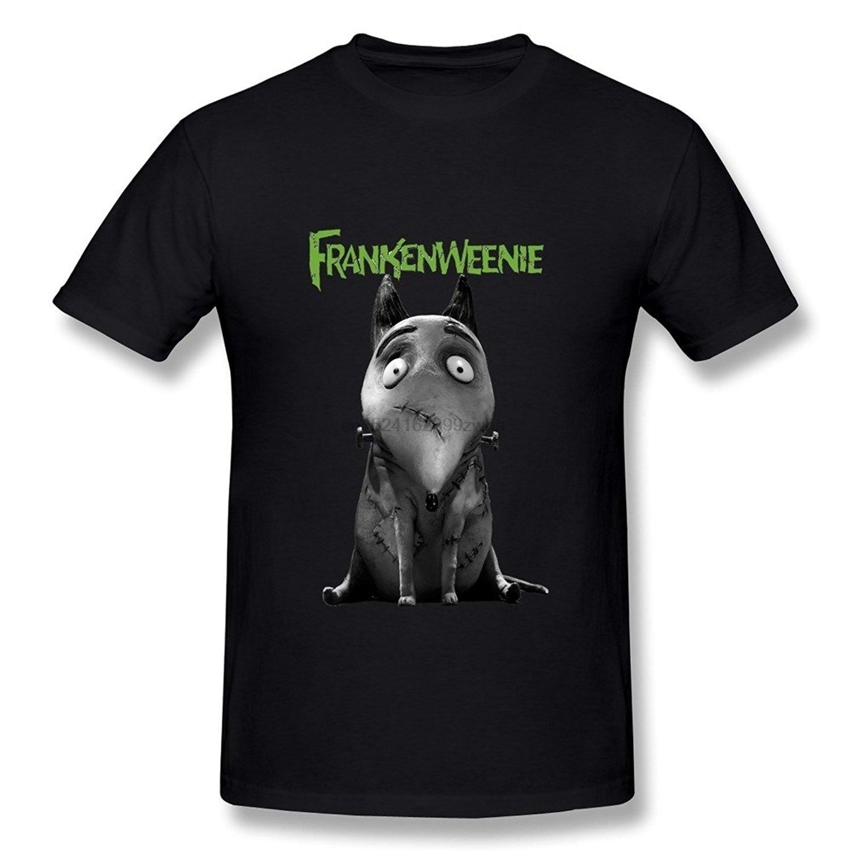 d74cab717c3 CaiTian Men's Horror Film Sparky Frankenweenie T-Shirt - Style Tee Black US  Size S