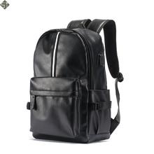 New Men Leather Backpack High Quality Youth Travel Rucksack School Book Bag Male Laptop Business bagpack mochila Shoulder Bag