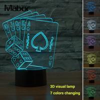 Beautiful Visual Lamp Night Light 3D Christmas Gifts Acrylic ABS Micro USB Simple Creative LED Poker