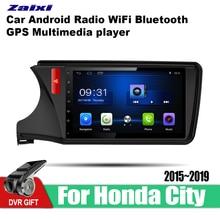 цена на ZaiXi 10.1 Inch 2Din Android Car Radio Wifi Autoradio HD 1024*600 Tochscreen GPS Multimedia Player For Honda City 2015~2019