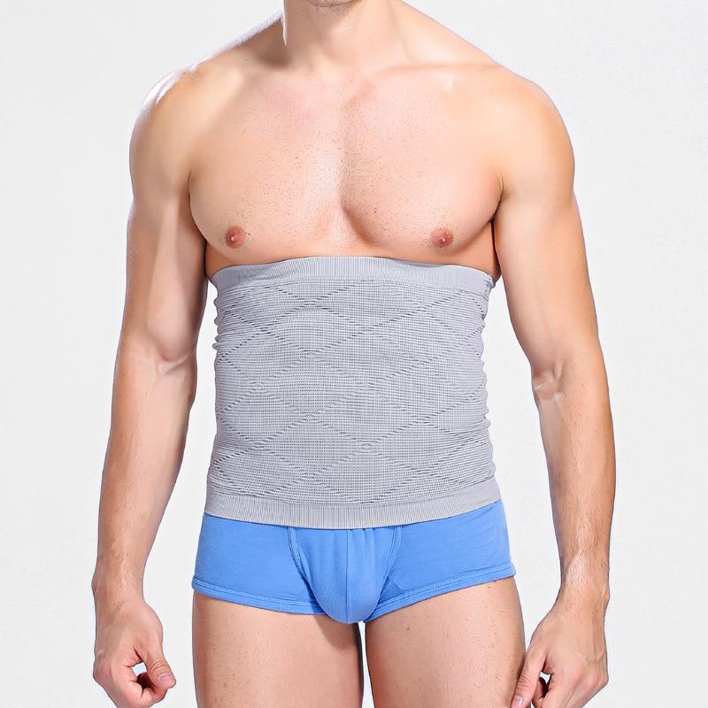 Nowych Mężczyzna Duży Brzuch Body Control Cinchers Talii Bezszwowe Brzucha Kompresji Tirmmer Okład Wyszczuplający Talia Powrót Supportor Pasa