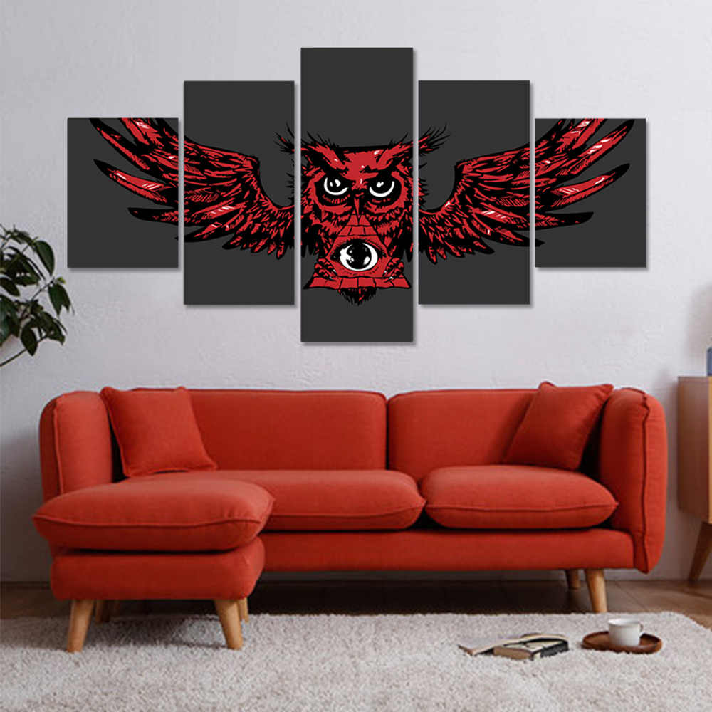 Unframed HD Canvas Prints Red Owl Wall Art Decor Poster For Living Room Decoration Mural Module Art Spray Painting Dropshipping