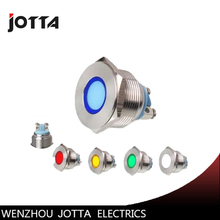 22mm Momentory LED light Ring Lamp type stainless steel push button switch with flat round