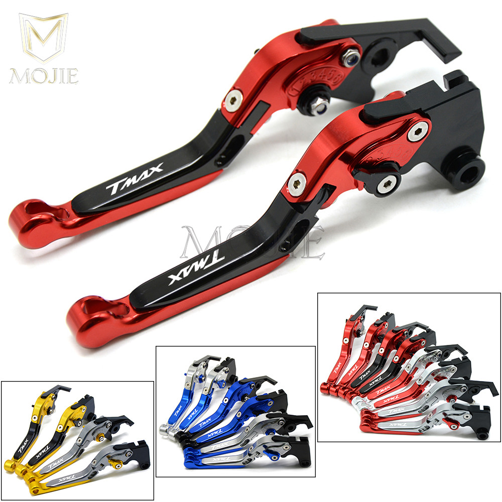 For Yamaha TMAX 500 T MAX T-MAX 530 TMAX500 TMAX530 2001-2007 2002 2003 2004 2005 2006 Motorcycle Brake Clutch Levers T-MAX 530 for yamaha tmax tmax530 t max t max530 530 xp530 red blue new style blue logo motorcycle adjustable short brake clutch levers
