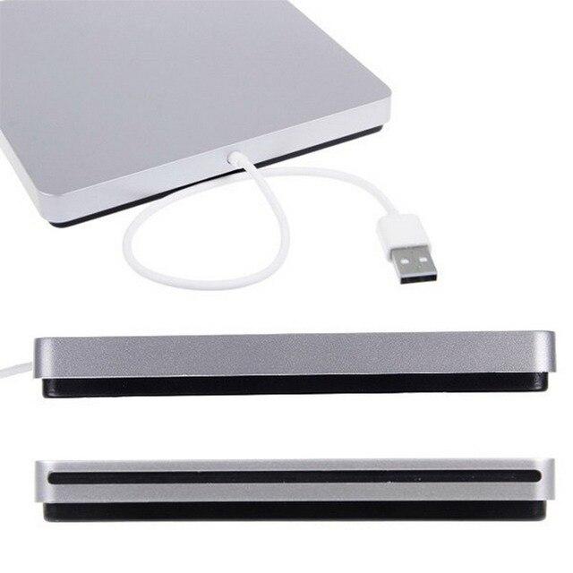 Usb ranura externa en caja de dvd cd quemador superdrive para apple macbook air pro de alta calidad