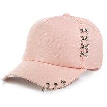 Mujeres gorra de béisbol del sombrero del sol blanco rosa verano protector  solar al aire libre Caps pareja hombres sombreros del. 27e3c76e702