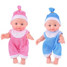OCDAY Simulated Baby Soft Silicone Body Dressing Cloth Doll Realistic Newborn Doll Parenting Toy for Kids Education Toy keiumi real 22 inch newborn baby doll cloth body realistic lovely baby doll toy for children s day kid christmas xmas gifts