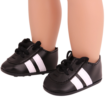 цена на 18 inch Girls doll  shoes spikes Black sports football shoes hiking American new born accessories Baby toys fit 43 cm baby s241