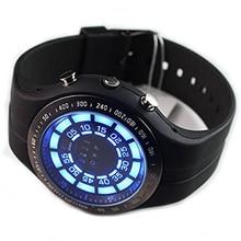 Borracha dos homens Tvg Binário Azul LED Watch Mens Relógio Do Esporte de Mergulho