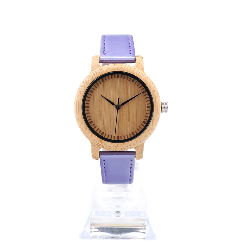 2017 TOP BOBO BIRD Brand Ladies Watches 3 Color Pu Leather Band Women Watch Bamboo Watches