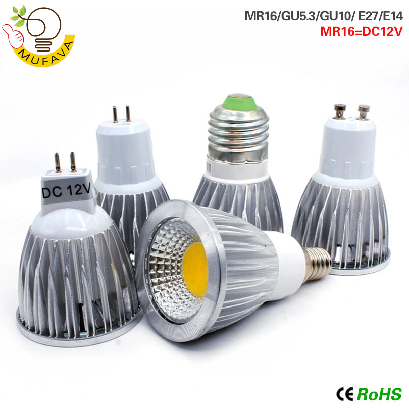 COB LED Bombillas E14 Led Lamp E27 Light Bulb GU10 GU5.3 AC220V 9w 12w 15w MR16 12v Led Lampada  For Home Decoration Ampoule