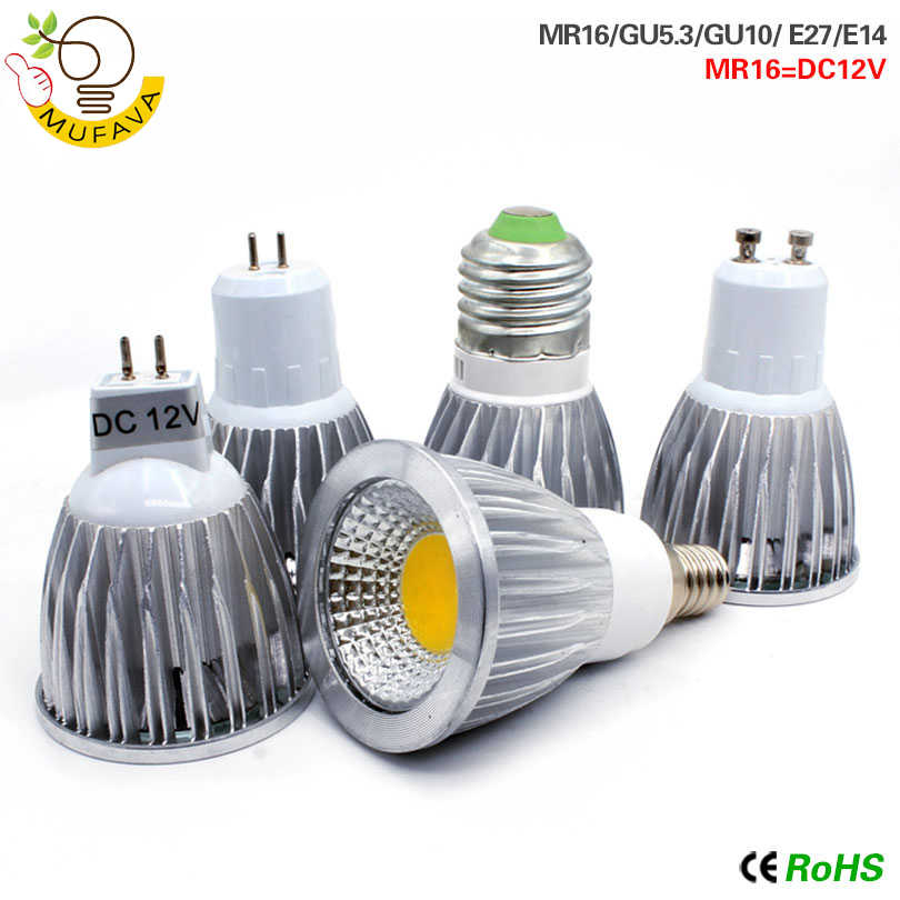 COB LED bombillas e14 led lamp E27 light bulb GU10 GU5.3 AC220V 9w 12w 15w MR16 12v led lampada  For Home Decoration Ampoule