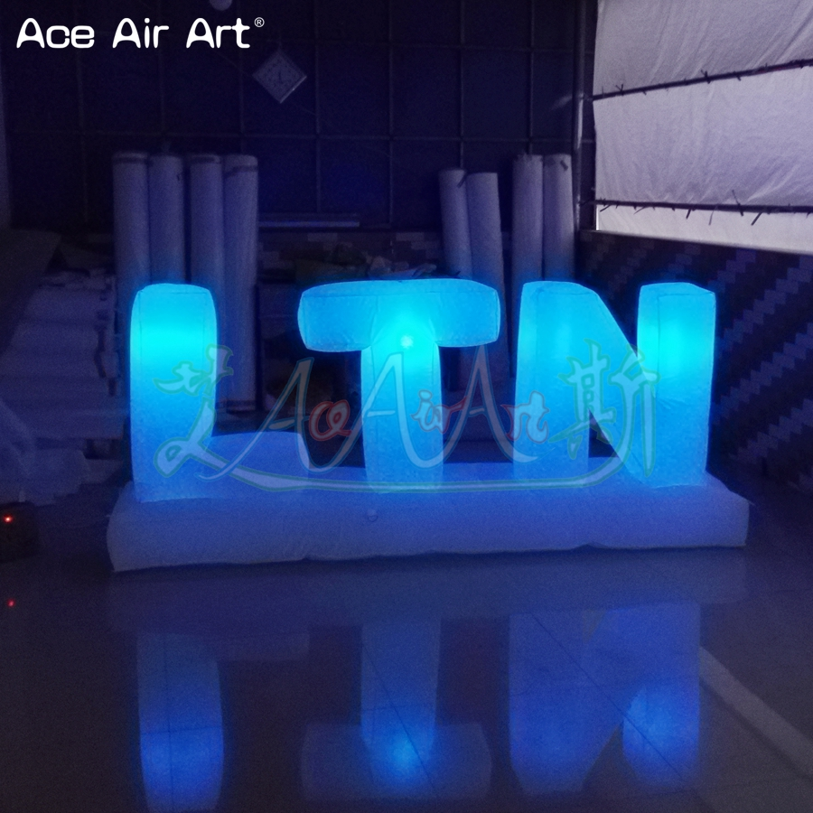 Customized led lighting inflatable letters of alphabet advertising billboard colorful letters set balloon for sale