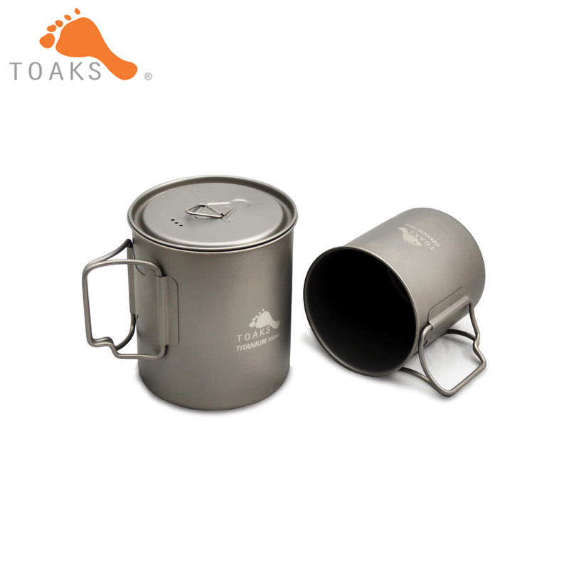 TOAKS titane 750 ml Pot et 450 ml tasse ensemble POT-750 & tasse-450TOAKS titane 750 ml Pot et 450 ml tasse ensemble POT-750 & tasse-450