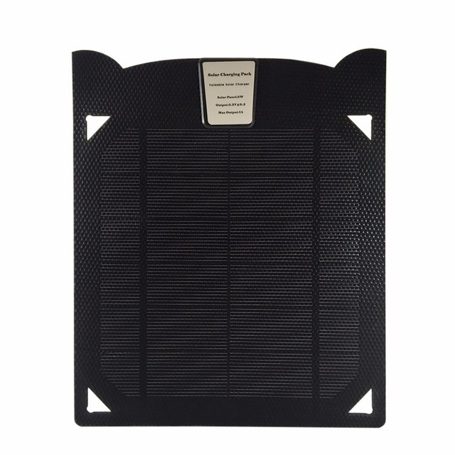 Portable 5V5W Single USB Solar Charger Solar Panel for SAMSUNG GALAXY S6,S7,S8,S7EDGE,S8PLUS, for Android interface devices