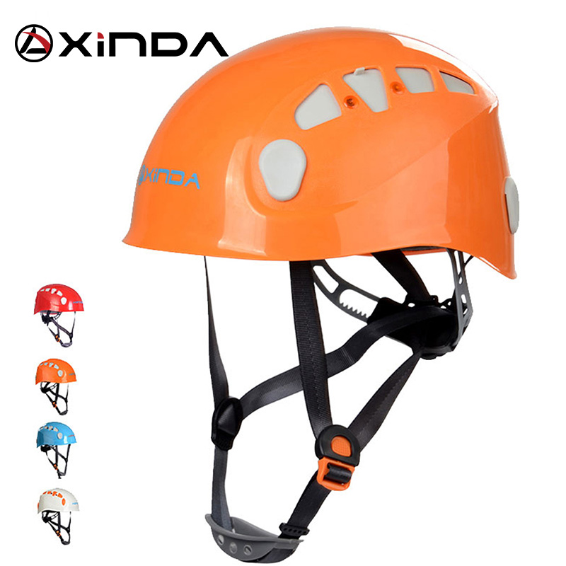 Xinda Professional Mountaineer Wspinaczka Kask bezpieczeństwa ochrony Outdoor Camping & Hiking Riding Helmet Survival Kit