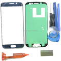 Original Front Touch Screen Glass Lens Kits For Samsung Galaxy S6 Edge G9250 G925A G925P Outer Glass+UV Glue Gold Blue White