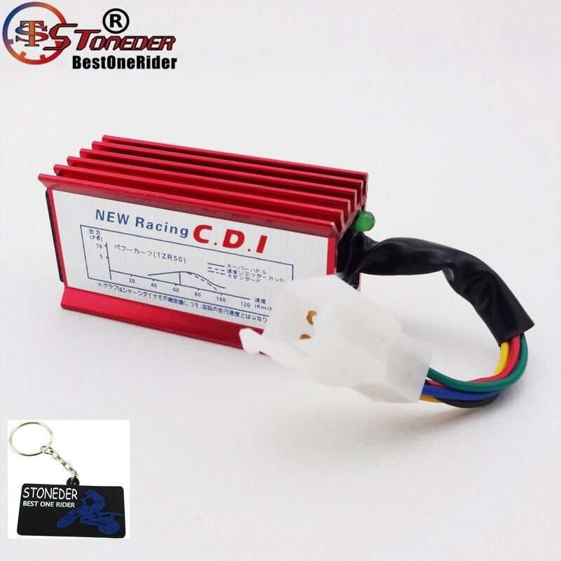 STONEDER Red 5 Pin Racing AC CDI Коробка зажигания для 50cc 90cc 110cc 125cc 140cc 150cc 160cc Pit Dirt Bike CRF50 TTR XR SSR YCF
