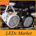 Wholesale LED track lights clothing spotlights par30 track light 45W led track light AC110-240V CE UL SAA