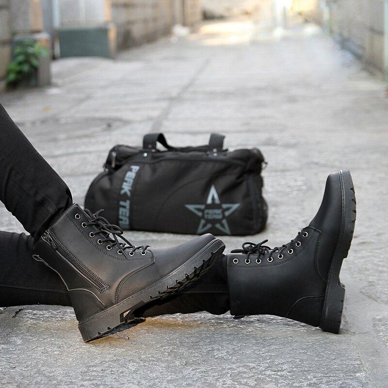 где купить winterr autumn Men Boots outdoor Men's Motorcycle Riding Hunting Casual Walking Shoes ankle boots Designer Martin Botas Hombre 3 по лучшей цене