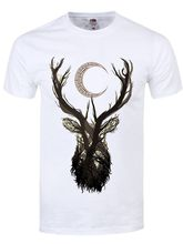 d75178ef phiking Unorthodox Jackalope White Printed T-Shirt Short Sleeve Funny Tee  Shirts