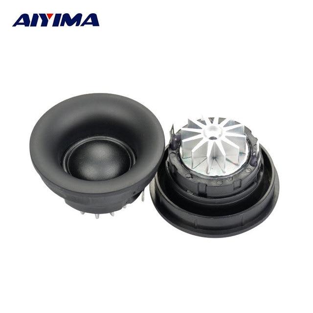 US $19 26  AIYIMA 2Pcs 1 Inch 5Ohm 30W Silk Film Dome Tweeter Speaker Fever  Silk Film Treble Hifi Loudspeakers-in Portable Speakers from Consumer