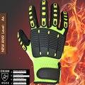 Nmsafety anti guantes de seguridad de aceite de absorción de choque de vibración mecánica guantes de trabajo resistentes a los impactos