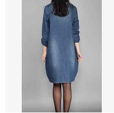 245f5e624b66bd1 ... 2018 Новые беременных Для женщин платье из джинсовой ткани синие летние Беременность  одежда свободные плюс Размеры ...