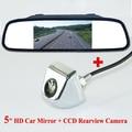 """5 """"Espelho Retrovisor Monitor de Câmera de Visão Traseira Do Carro À Prova D' Água de Vídeo LCD Auto Estacionamento Assistência LED Night Vision Invertendo Kit"""